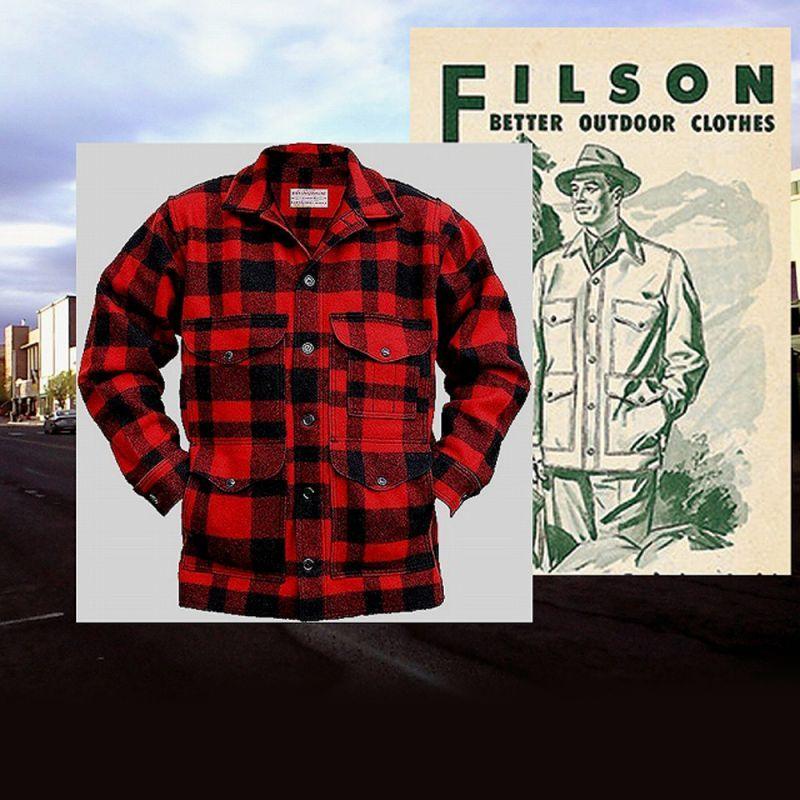 画像2: フィルソン バージンウール マッキーノ クルーザー(オッターグリーン×ブラック)/Filson Mackinaw Cruiser(Otter Green×Black)