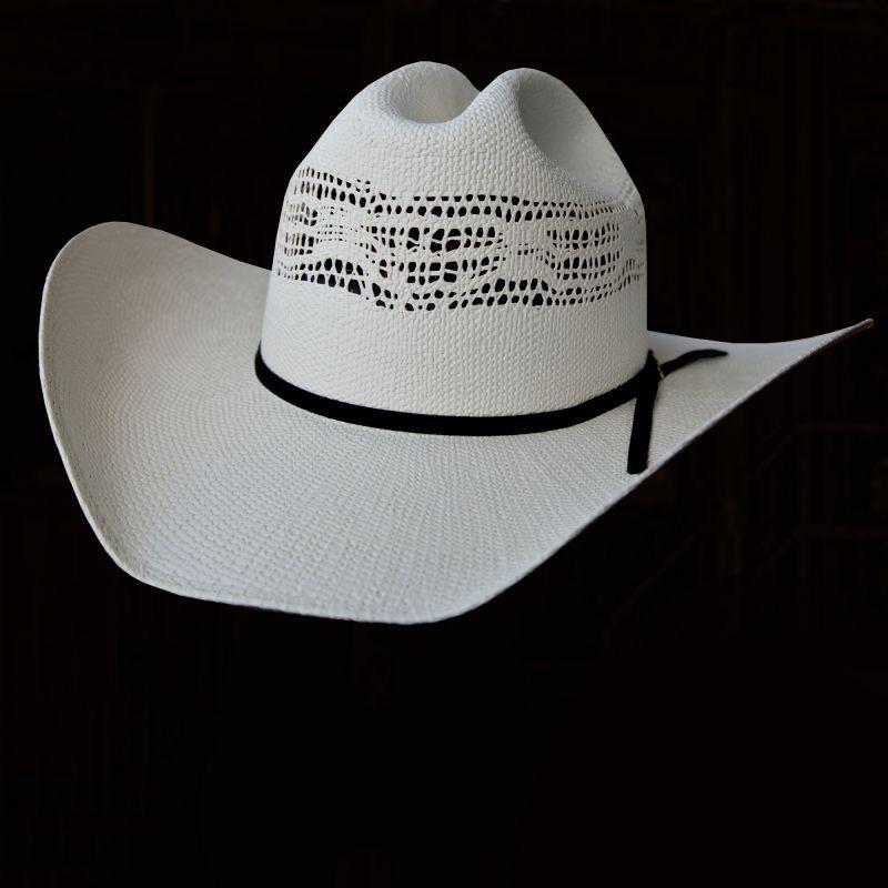 画像1: ウエスタン ストローハット(ホワイト)57cm/Western Straw Hat