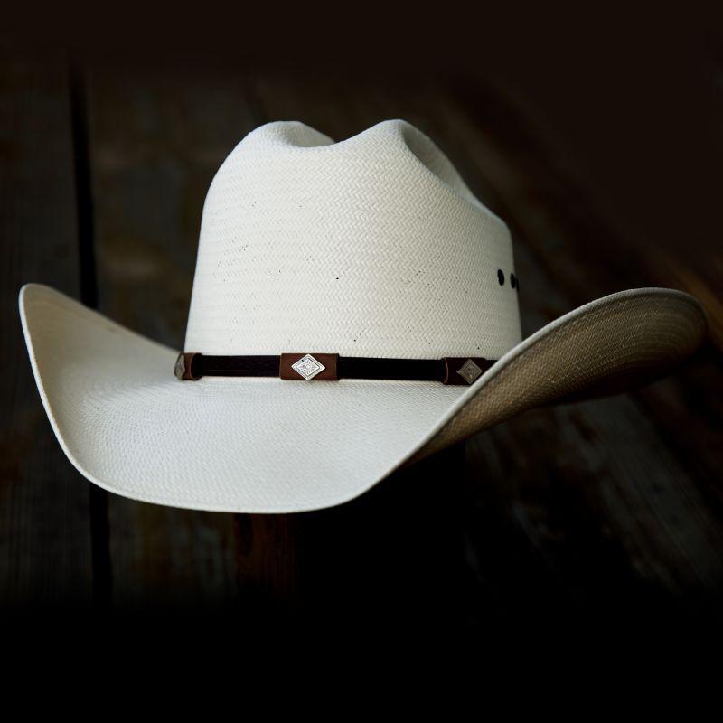 画像1: レジストル 8X ストロー カウボーイハット 56cm/Resistol Western Straw Hat (1)