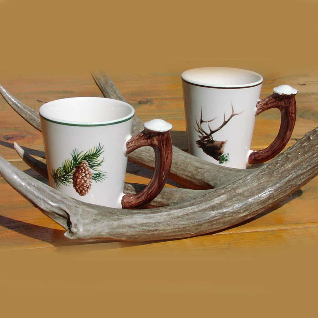 画像1: 鹿の角 マグカップ(2個セット)/Mug Cup(Set of Two) (1)
