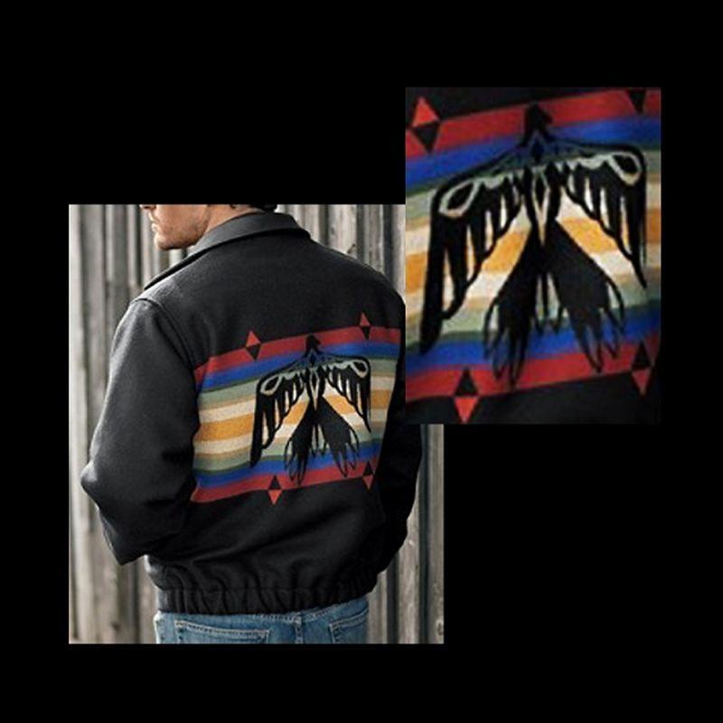 画像1: ペンドルトン ウール ウエスタン ジャケット サンダーバード(ブラック)/Pendleton Wool Western Jacket Thunderbird(Black) (1)