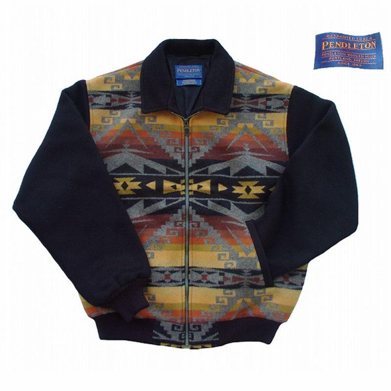 画像1: ペンドルトン ジャケット(ブラック・ブラウン)/Pendleton Wool Jacket (1)