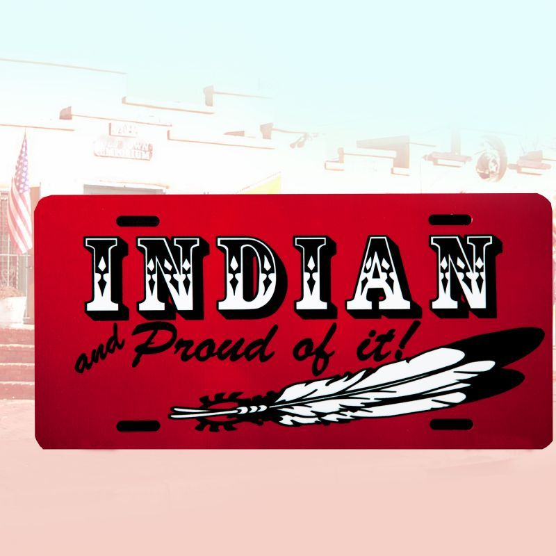 画像1: ライセンスプレート インディアン/License Plate (1)
