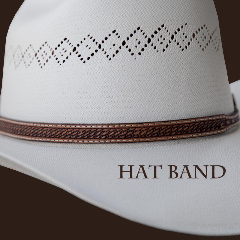 画像1: レザー ハットバンド (ブラウン・バスケット)/Hat Band (Brown Basket)