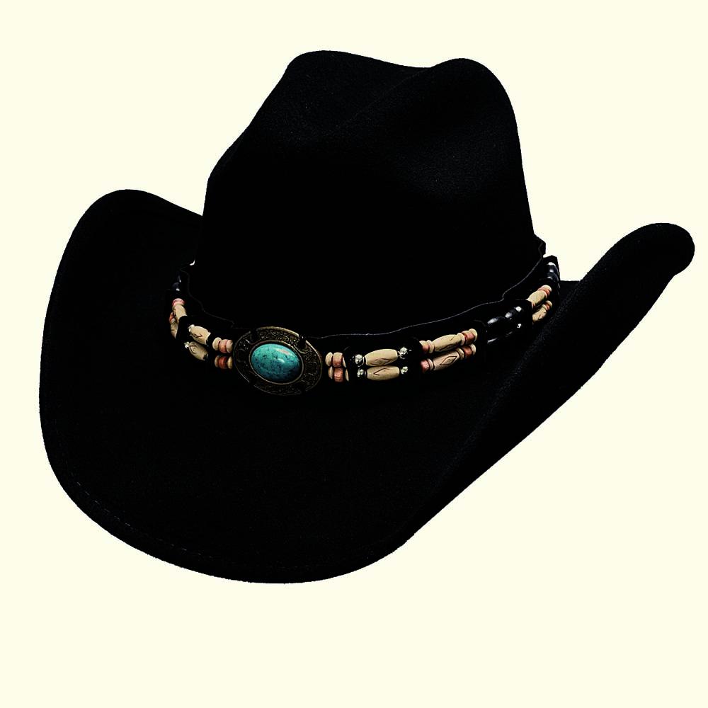 画像1: ブルハイド ウール ウエスタンハット フォーチュン(ブラック)/Bullhide Western Hat(Fortune/Black)