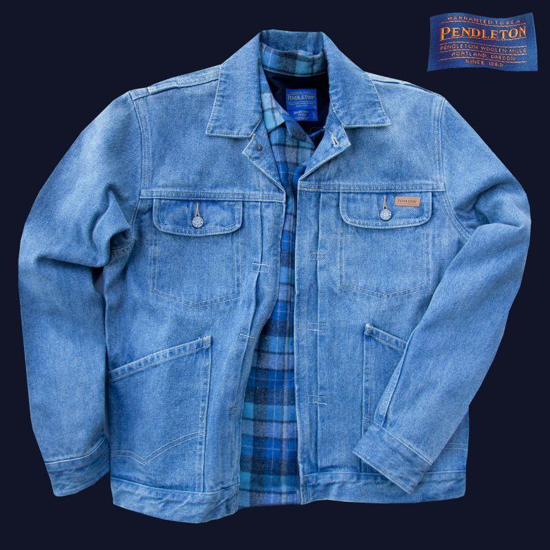 画像1: ペンドルトン デニム ジャケット(ライトブルー)/Pendleton Denim Jacket(Light Blue)   (1)
