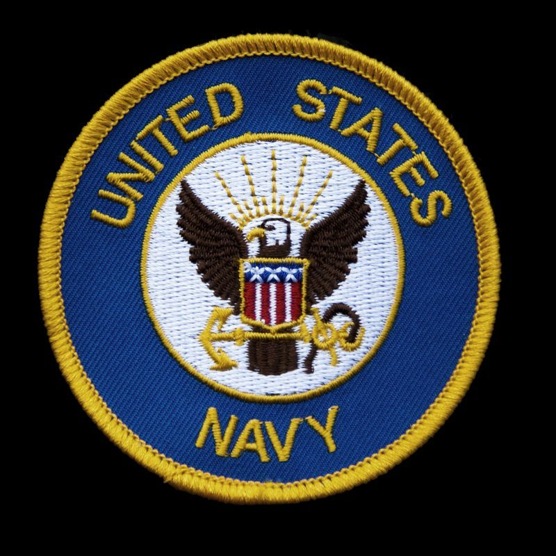 画像1: ワッペン UNITED STATES NAVY/Patch  (1)
