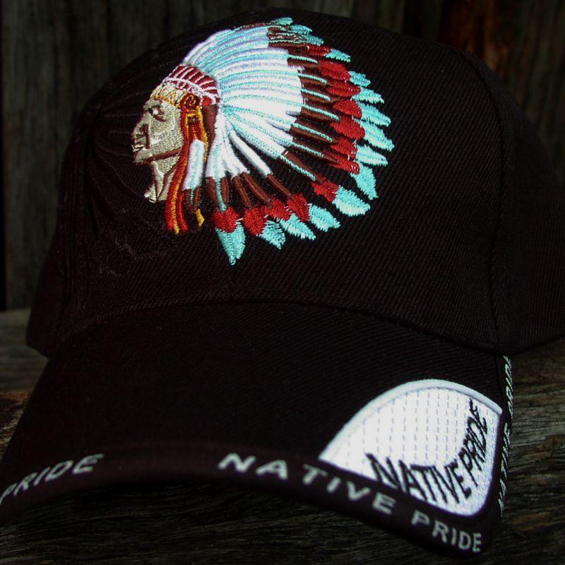 画像1: ネイティブプライド キャップ・インディアンチーフブラック/Native Pride Cap Indian Chief (1)