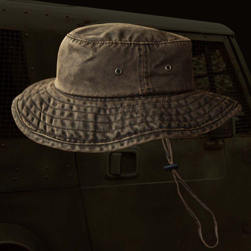 画像1: パッカブル アウトドア ハット(ダークブラウン)/Packable Hat(Dark Brown)
