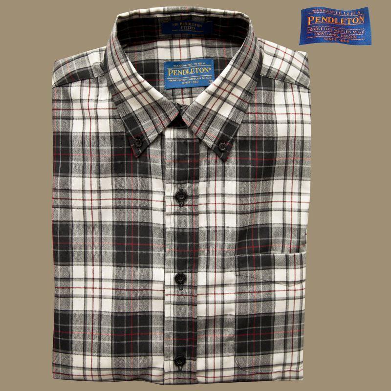 画像1: ペンドルトン サーペンドルトン フィッテッド ウールシャツ(ブラック・タン)/Pendleton Sir Pendleton Fitted Wool Shirt