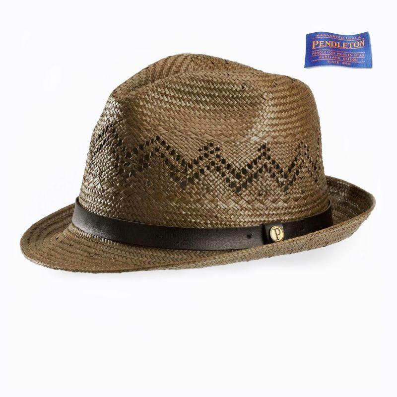 画像1: ペンドルトン ストローハット(ブラウン)/Pendleton Straw Hat