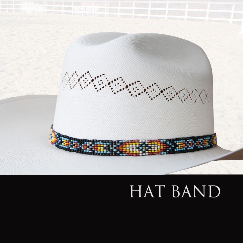 画像1: ハットバンド ビーズ/Hat Band (1)