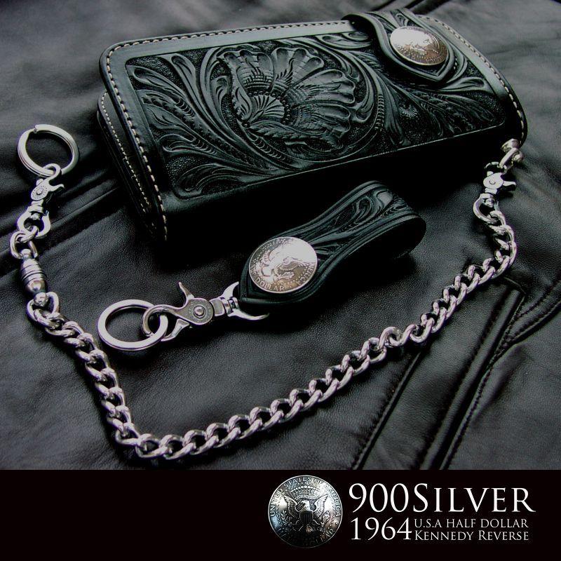 画像1: ファニー ライダース ウォレット(ハンドクラフトL)/Funny Rider's Wallet(Black) (1)