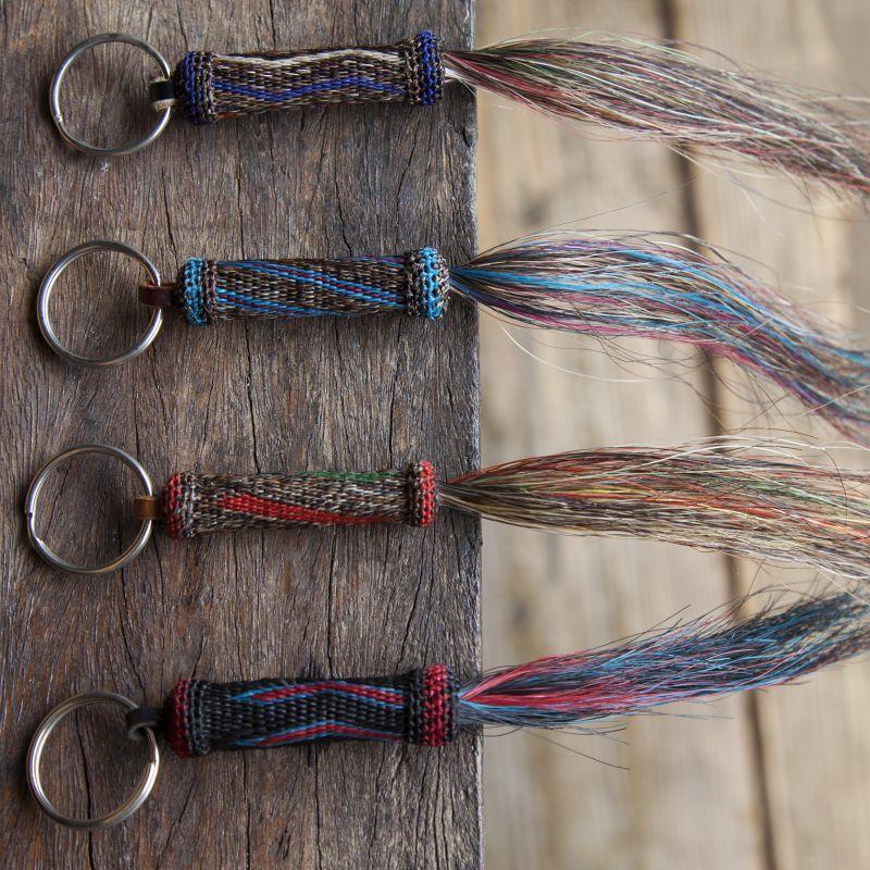 画像1: ウエスタン ホースヘアー(馬の毛)キーホルダー/Key Ring (1)