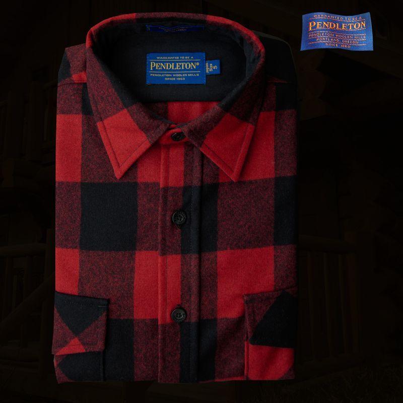 画像1: ペンドルトン ジャパンフィット アウトドアシャツ レッド×ブラック(バッファローチェック)/Pendleton Outdoor Shirt Rob Roy Plaid