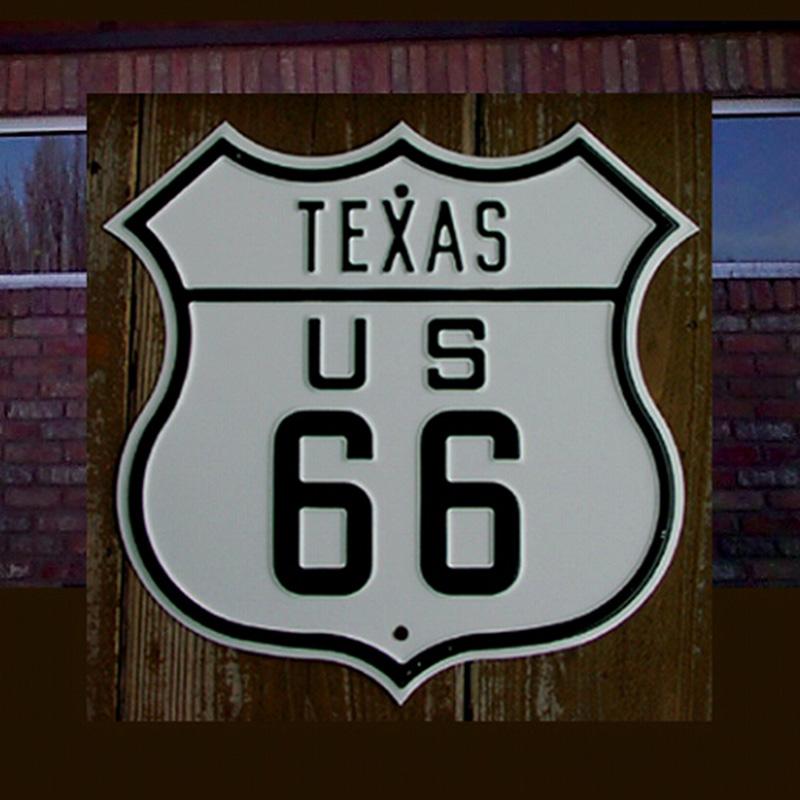 画像1: テキサスUS66ストリートサインとUSAハーレーダビッドソンバンダナ6枚セット/TEXAS US66 Metal Sign+6Harley Davidson Bandanas  (1)