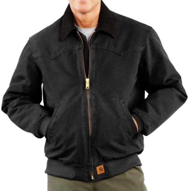 画像1: カーハート サンドストーン ウエスタン サンタフェ ジャケット ブラック/Carhartt Sandstone Santa Fe Jacket