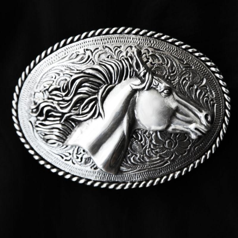 画像1: ノコナ ベルト バックル ホースヘッド/Nocona Belt Buckle Horse Head