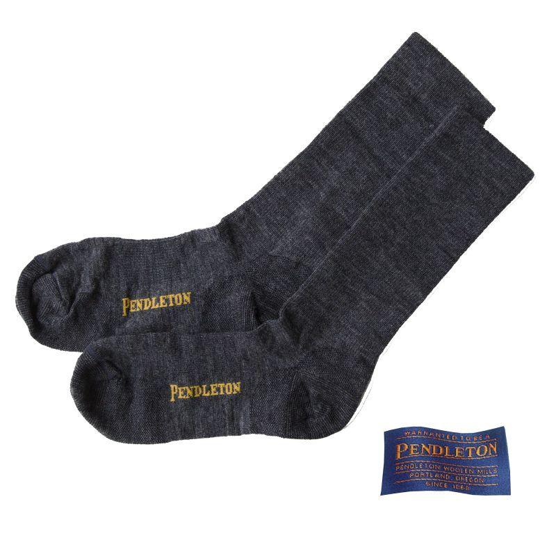 画像1: ペンドルトン ウールソックス(チャコールヘザー)/Pendleton Socks(Charcoal Heather)