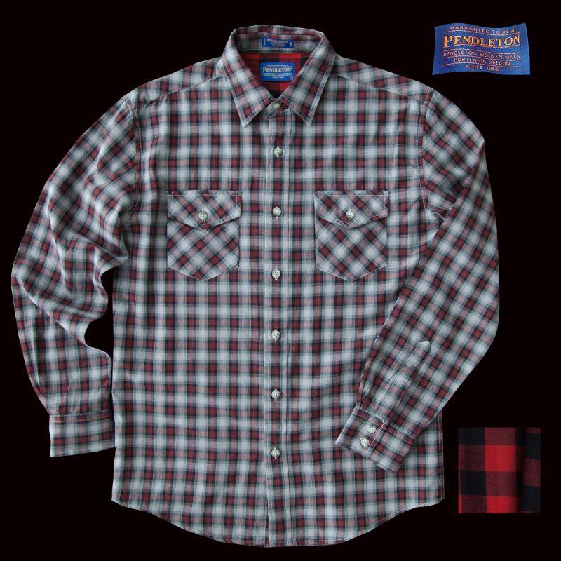 画像1: ペンドルトン ダブルフェイス ビンテージフィットストリートシャツ(長袖)S/Pendleton Long Sleeve Double Face Street Shirt(Black Red Soft Plaid) (1)