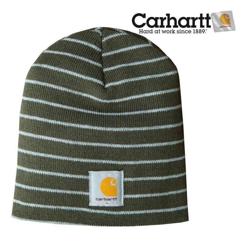 画像1: カーハート ニット キャップ(ダークグリーン)/Carhartt Knit Cap (1)