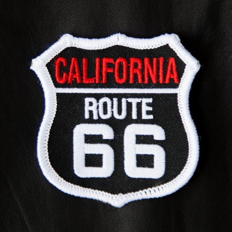 画像1: ワッペン ルート66 カリフォルニア ブラック・ホワイト/Patch Route 66 California