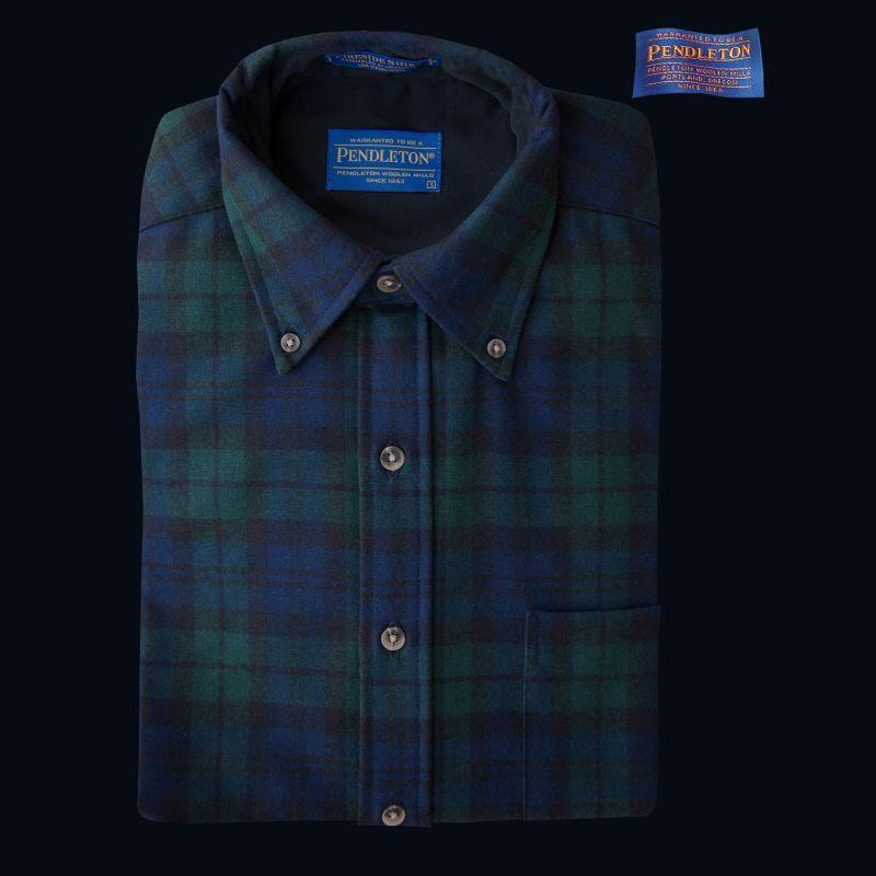 画像1: ペンドルトン ウール シャツ・ファイアーサイドシャツ(ブラックウォッチタータン)/Pendleton Fireside Shirt (Black Watch Tartan)