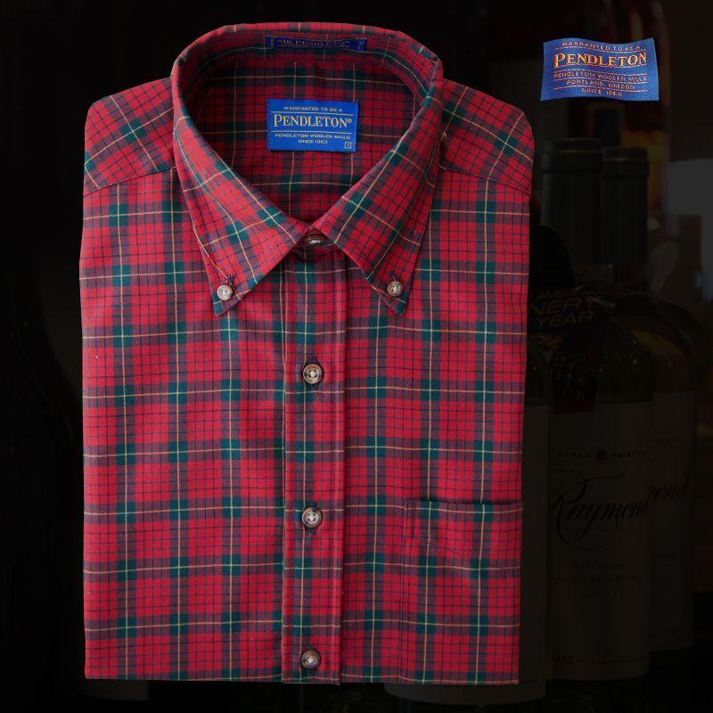 画像1: ペンドルトン サーペンドルトン ウールシャツ(ペンドルトン レッド タータン)/Pendleton Sir Pendleton Wool Shirt