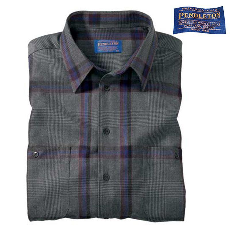 画像1: ペンドルトン ウール シャツ(グレーピンクプラッド)/Pendleton Wool Shirt