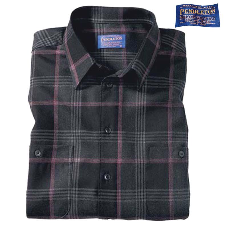 画像1: ペンドルトン ウールシャツ(ブラックピンクプラッド)S/Pendleton Wool Shirt (1)