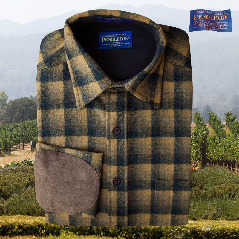 画像1: ペンドルトン ウール シャツ・エルボーパッチ トレイルシャツ ブロンズ・チャコールオンブレ/Pendleton Trail Shirt (Bronze Charcoal Ombre) (1)