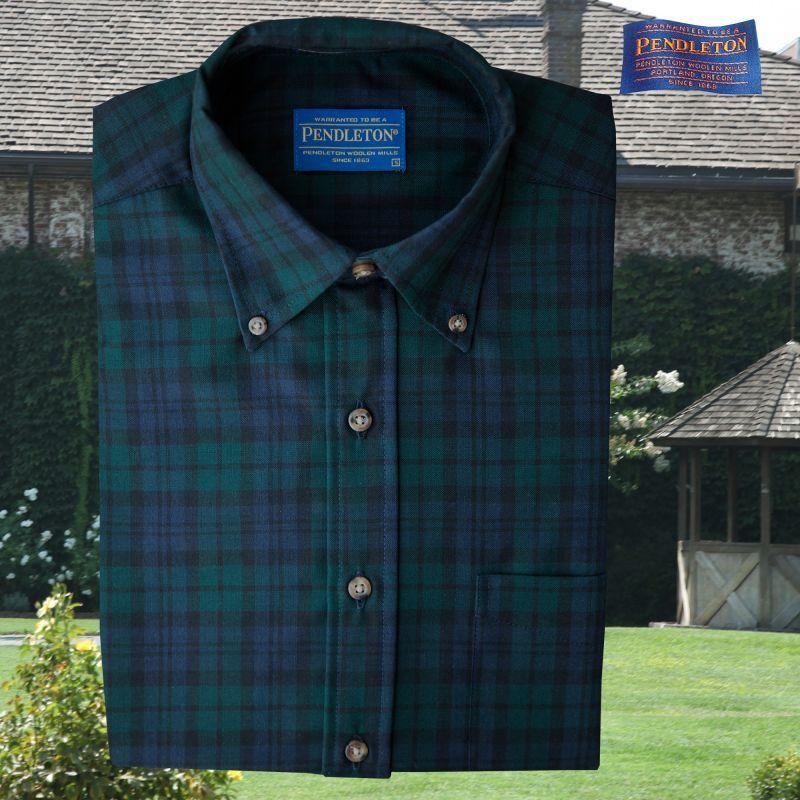 画像1: ペンドルトン サーペンドルトン ウールシャツ(ブラックウォッチタータン)/Pendleton Sir Pendleton Wool Shirt(Black Watch Tartan) (1)