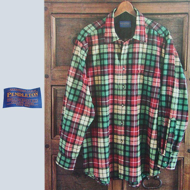画像1: ペンドルトン ウールシャツ ビンテ-ジフィット ソロシャツ/Pendleton Solo Shirt Buchanan Tartan (1)