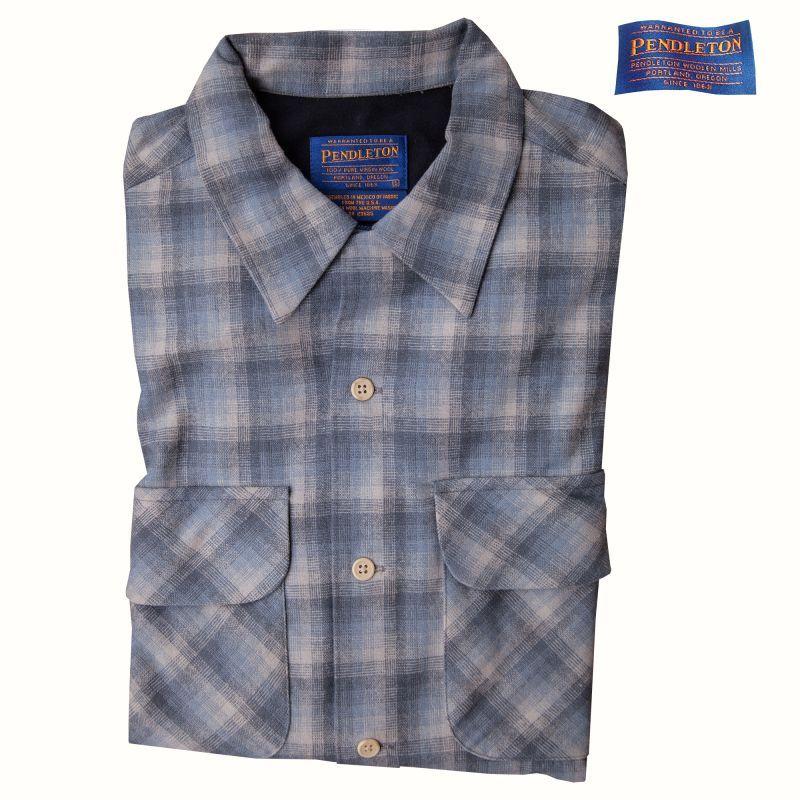 画像1: ペンドルトン ウールシャツ・ ボードシャツ(ブルー)S/Pendleton Board Shirt