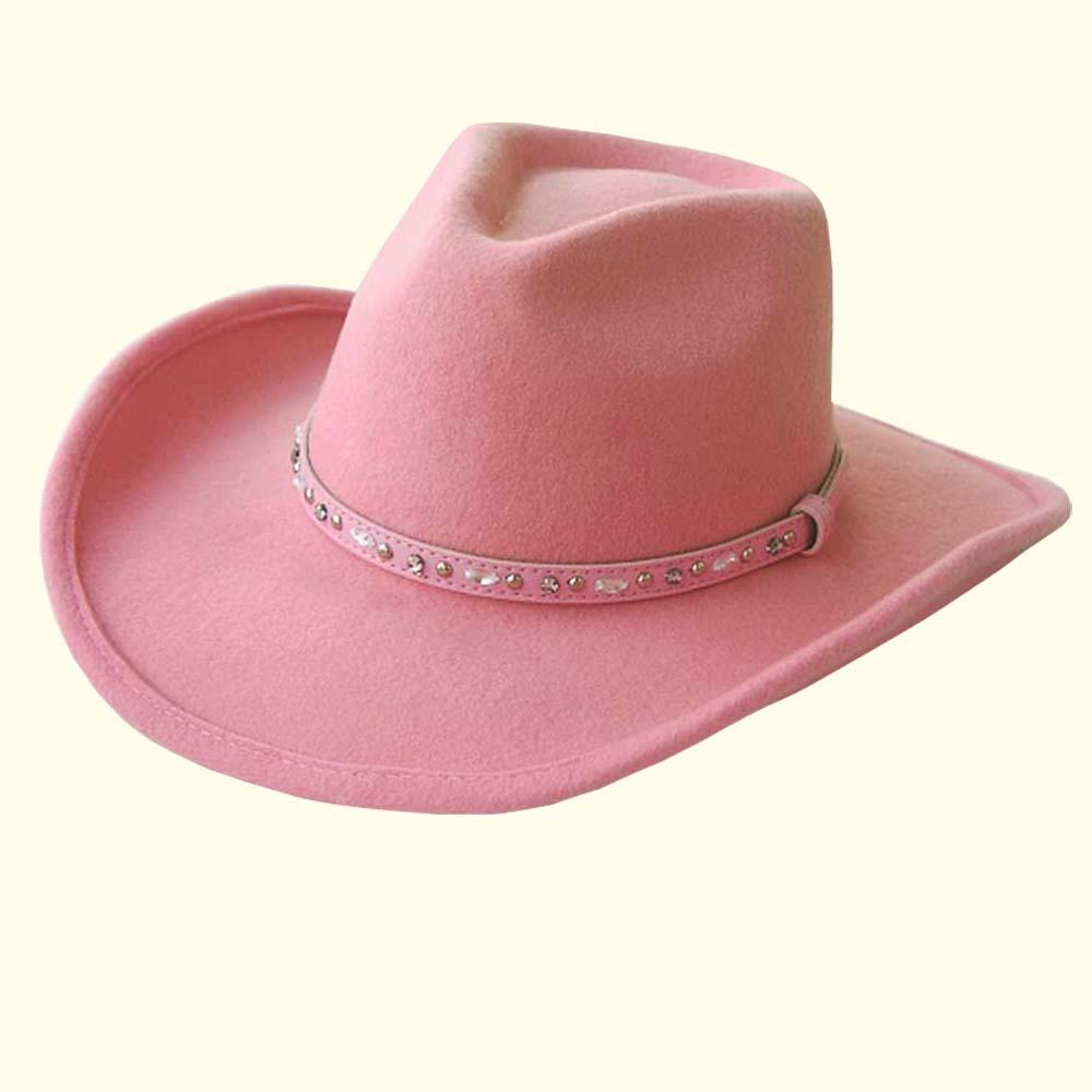 画像1: ウエスタン ウール ハット(ピンク)/Western Wool Hat(Pink)