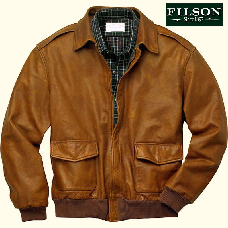 画像1: フィルソン ウォッシュド カウハイド レザー ジャケット(ビンテージブラウン)/Filson Leather Jacket