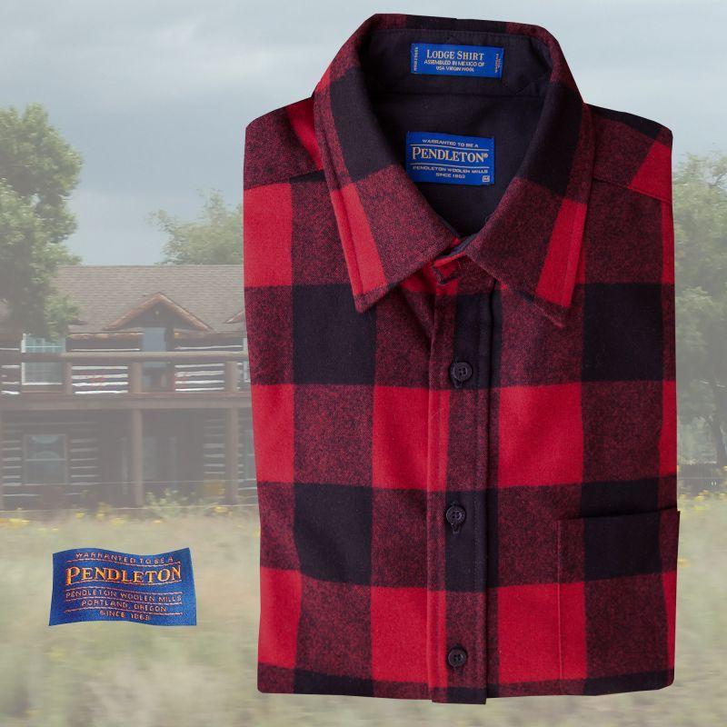 画像1: ペンドルトン ウールシャツ ロッジシャツ ロブロイレッドプラッド/Pendleton Lodge Shirt