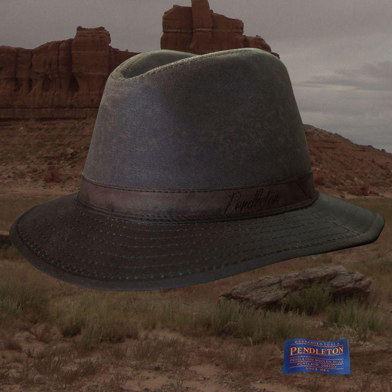 画像1: ペンドルトン オイルスキン ハット(ブラウン)/Pendleton Oilskin Hat (1)