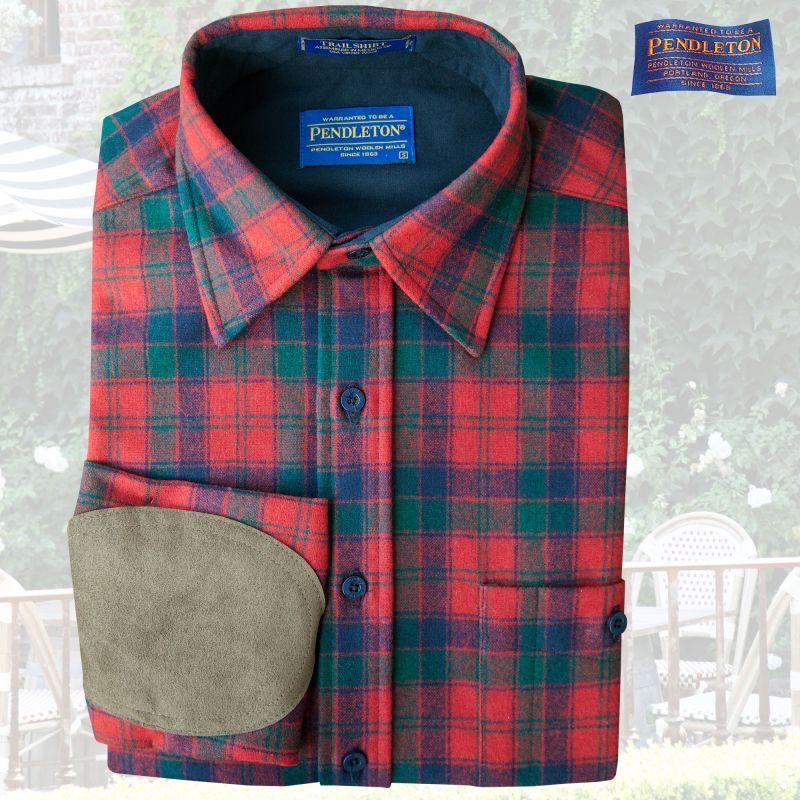 画像1: ペンドルトン ウール シャツ・エルボーパッチ トレイルシャツ ロバートソンタータン/Pendleton Trail Shirt (Robertson Tartan) (1)