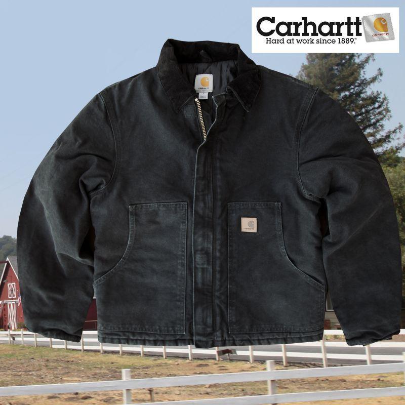 画像1: カーハート サンドストーン トラディショナル ジャケット ブラックS/Carhartt Sandstone Traditional Jacket