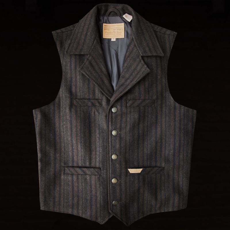 画像1: パンハンドルスリム パウダーリバー ウールベスト(ブラウン)M/Panhandle Slim Wool Vest(Brown) (1)