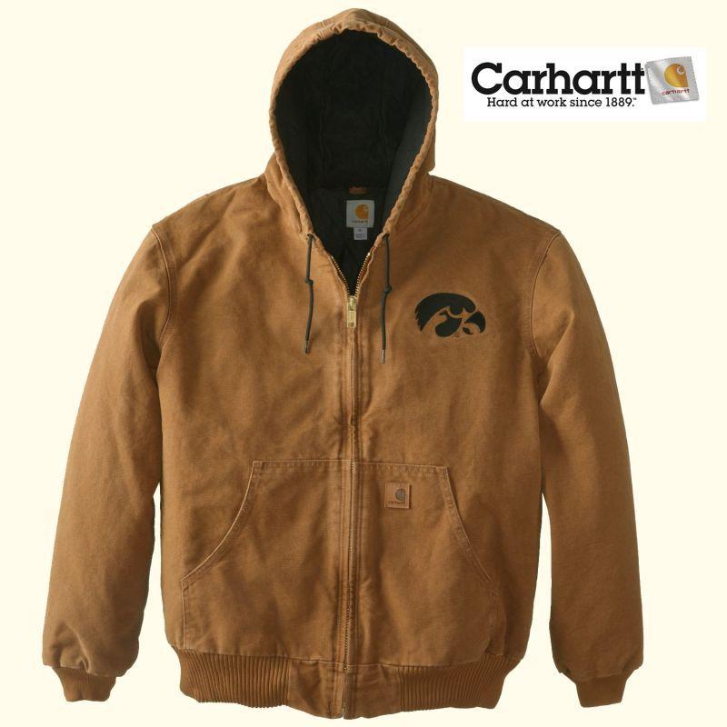 画像1: カーハート サンドストーン アクティブ ジャケット カーハートブラウン アイオワホークアイズM/Carhartt Sandstone Active Jacket (1)