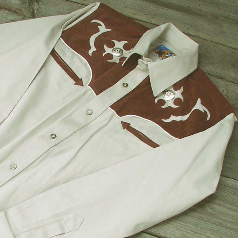 画像1: ロボライダースウエスタンシャツ・サンド/LOBO RIDERS'S Western shirt(Sand) (1)