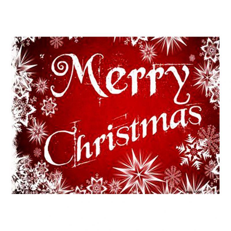 画像1: クリスマス メタルサイン ホワイトスノー メリークリスマス/Metal Sign Merry Christmas