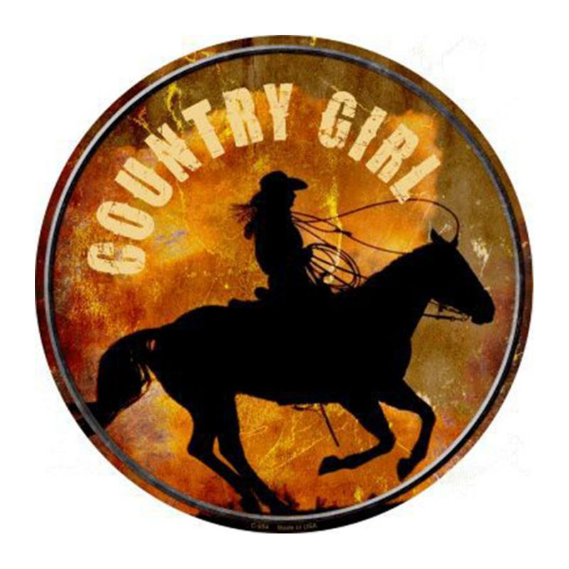 画像1: カントリーガール メタルサイン/Metal Sign Country Girl (1)