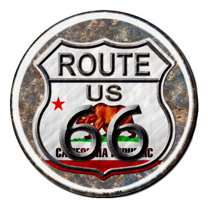 画像1: ルート66 カリフォルニア リパブリック メタルサイン/Metal Sign Route 66 California Republic    (1)