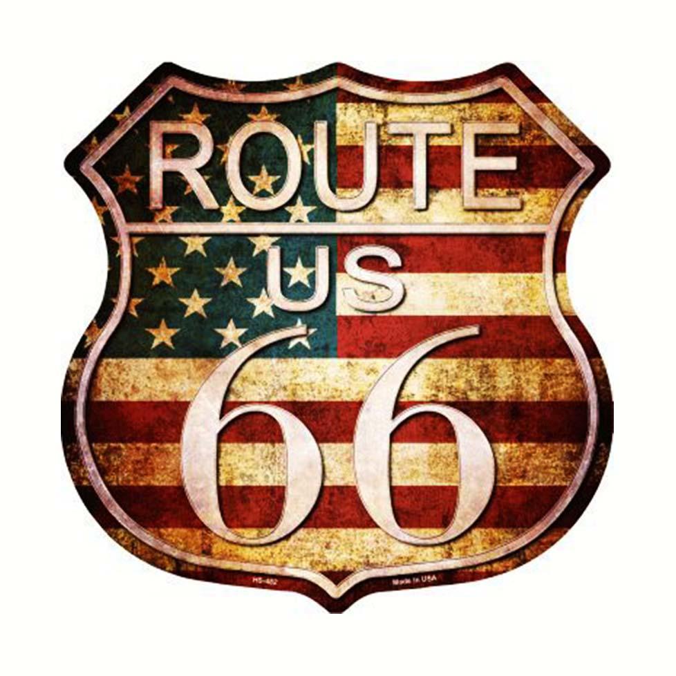 画像1: ルート66 アメリカン ビンテージ メタルサイン/Metal Sign Route 66 (1)