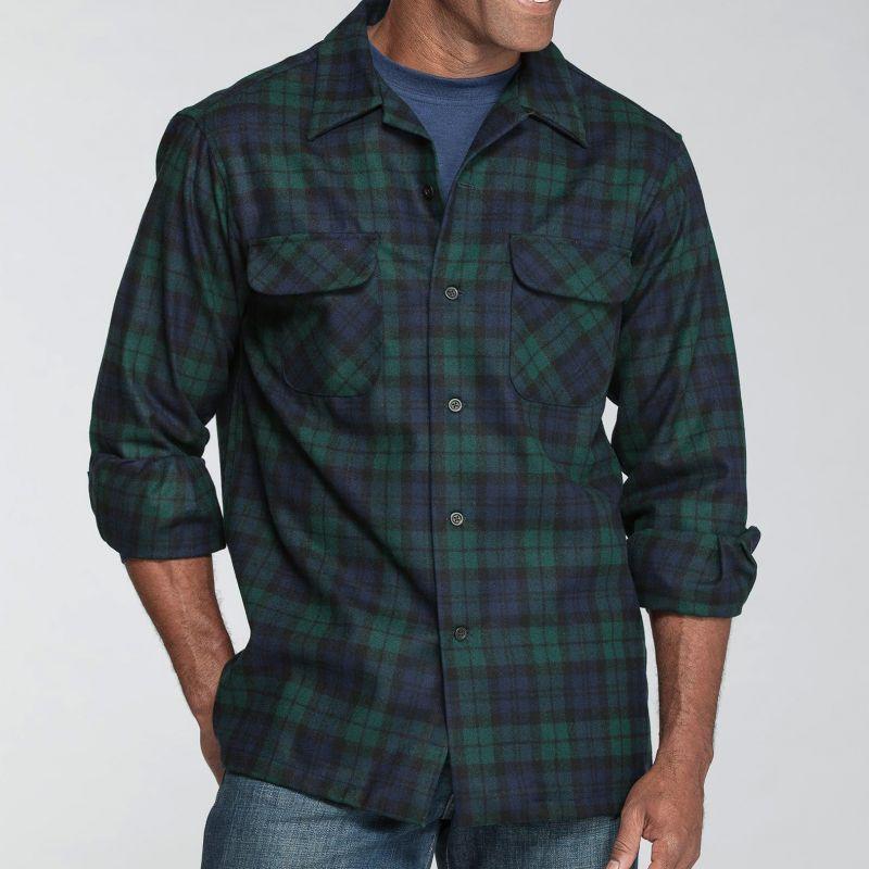 画像1: ペンドルトン ウールシャツ ボードシャツ ブラックウォッチタータン/Pendleton Board Shirt(Black Watch Tartan)