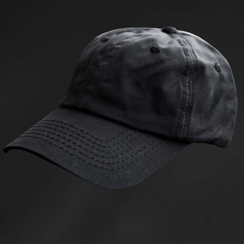 画像1: オイルフィニッシュ コットン キャップ ブラック/Baseball Cap