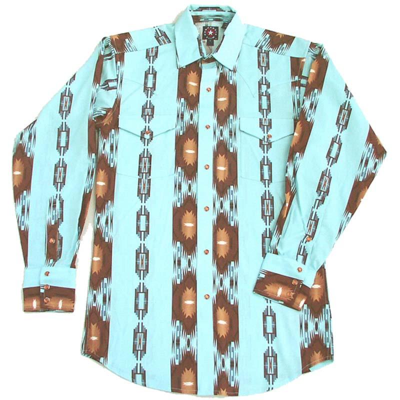画像1: パンハンドルスリム ウエスタンシャツ・ライトターコイズ(長袖)S/Panhandle Slim Long Sleeve Western Shirt(Light Turquoise) (1)